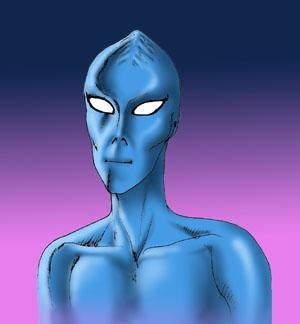 Alieno blu