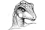 Alieano rettiliano dinoide