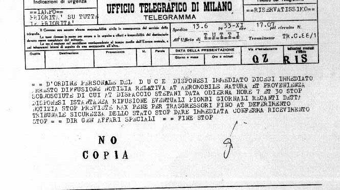 1933, il disco volante che cadde su Vergiate